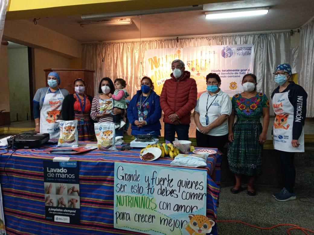 En cumplimiento al marco de la Gran Cruzada Nacional por la Nutrición, se realiza el lanzamiento del alimento complementario Nutri Niño en el Municipio de Totonicapán